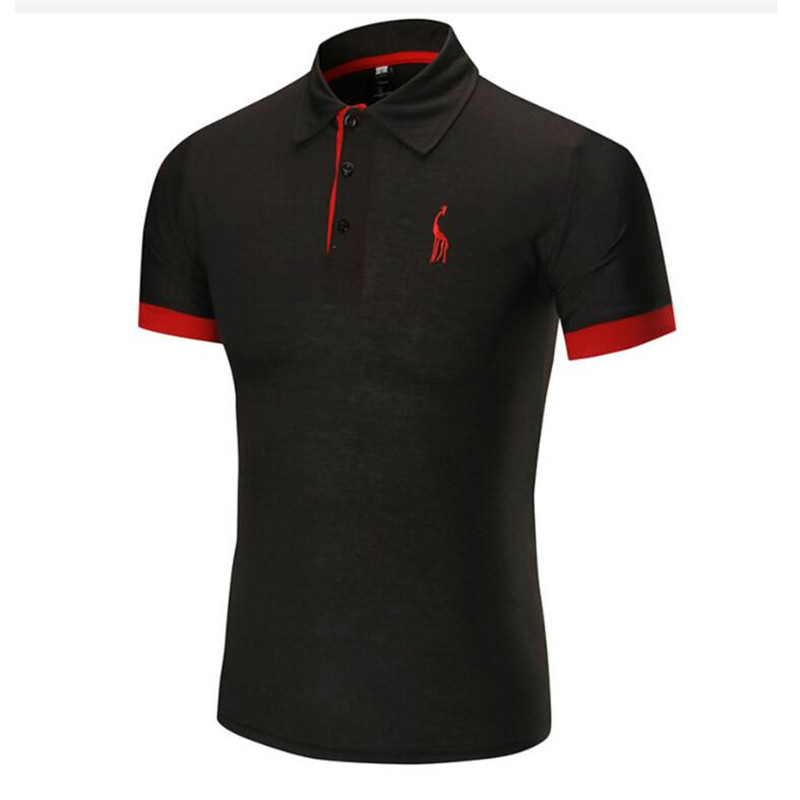 Dropshipping 14 Colors Brand Quality Cotton Polos Men Embroidery Polo Giraffe Shirt Men Casual Patchwork Male Tops Clothing Men